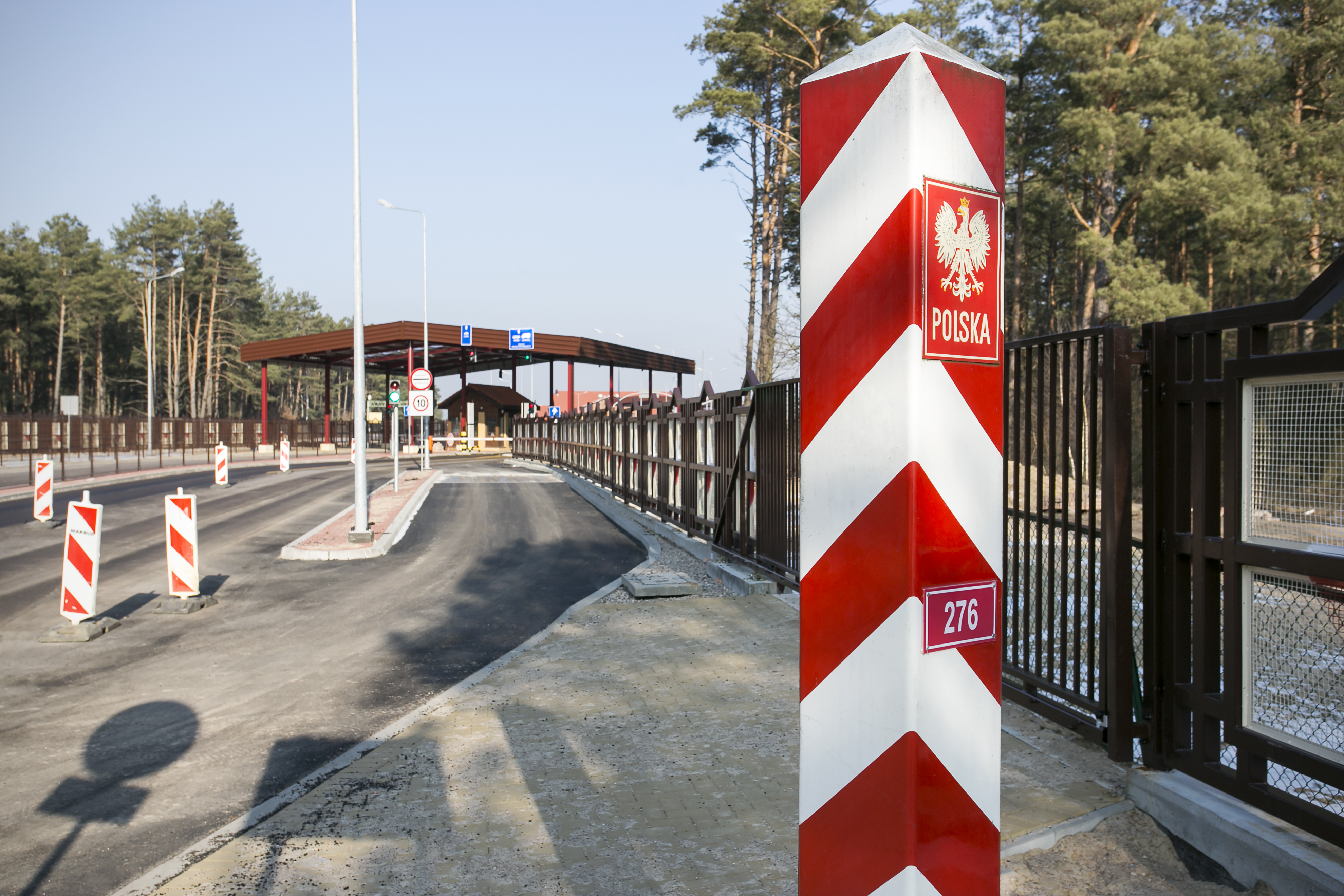 The area of road border crossing in Połowce